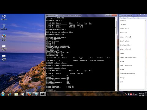 How to Repair a USB Corrupted and USB Not Recognized problem use CMD (command prompt)