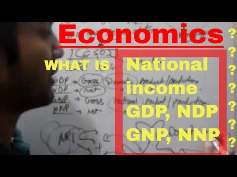 economics: National income(gdp,ndp,gnp,nnp,etc) in hindi