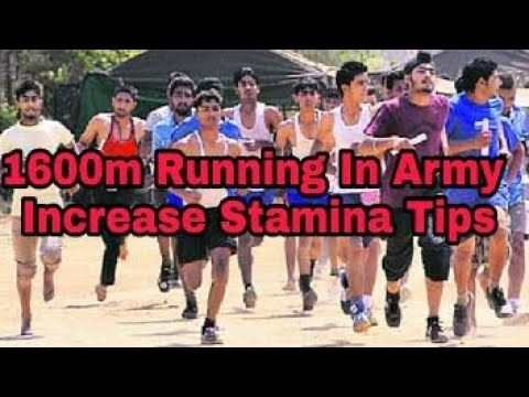 Increase Running Stamina (With in a week) for 1600m Running Of Army Physical Test