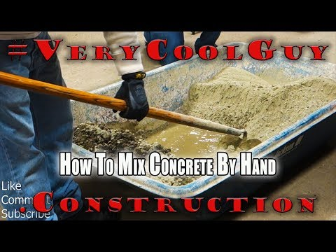 How To Properly Mix Concrete - Hand Mixing