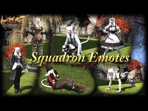 FFXIV: Squadron Emotes