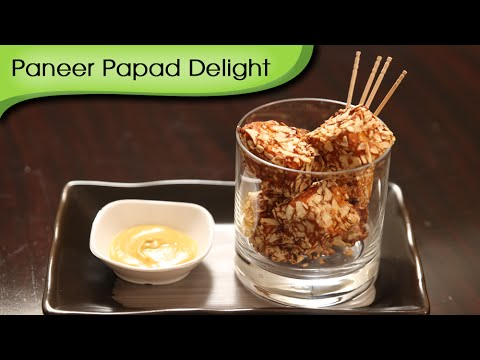Paneer Papad Delight | Easy To Make Party Starter | Ruchi's Kitchen