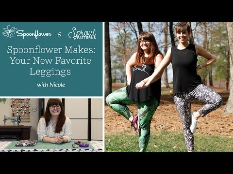 The DIY Leggings you NEED from Sprout Patterns   Spoonflower Tutorials