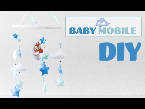 DIY Felt Baby Mobile / Movil de bebes con fieltro