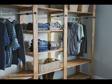 How to Build Industrial Style Closet