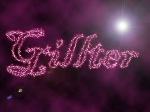 Sparkling,Star filled Text Effect - Photoshop Tutorial.