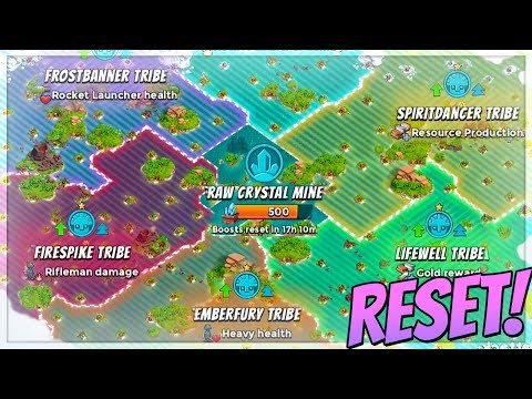 Boom Beach How the Tribe RESET Cycle Works!! (Tribe Update Tutorial and Tips!)