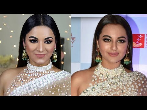 Sonakshi Sinha Complete Look (Makeup, Hairstyle, Outfit) | Mijwan 2018
