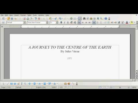 OpenOffice Tutorial: How to Create a Table of Contents