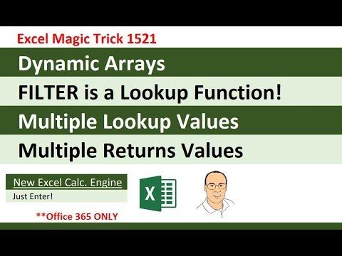 VLOOKUP: Step Aside! New Epic Lookup Function = FILTER Dynamic Array Function (EMT 1521)