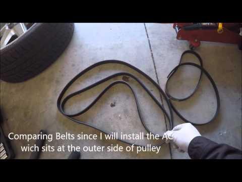 Mazda5 MAZDA 5 2006 2007 2008 Serpentine and AC Belt Installation Replacement