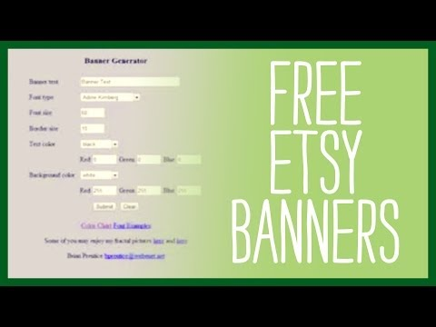 Free Etsy Banners - Top Sites That Generate a Free Etsy Banner for your Etsy Shop