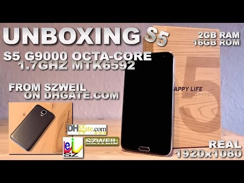 S5 G9000 OctaCore 1.7GHz [UNBOXING] 2GB RAM/16GB ROM MTK6592 1920x1080 5.2