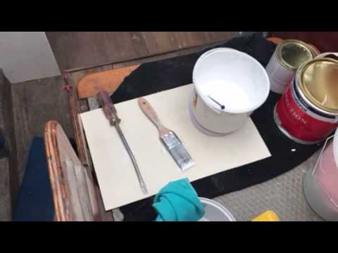 DIY Boat Restoration: Mixing international perfection 2 pack paint