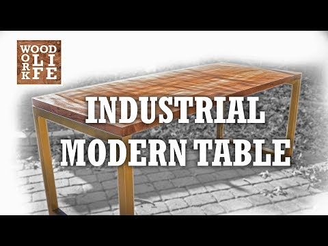DIY Modern Industrial Dining Table | Builds