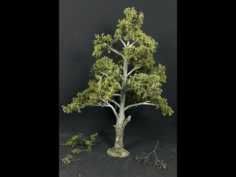 Simple Realistic Wargaming Trees : HO/OO Scale Diorama Style Trees For Your layout