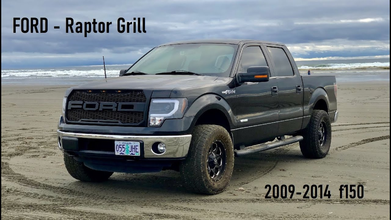 Rapter Grill: 2009-2014 FORD F150 aftermarket Grill install