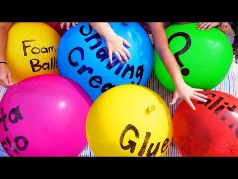 Slime Giant Sized - Making Slime with Giant Balloons! DIY Slime with Balloon Popping! No Borax!