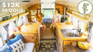 Most Amazing School Bus Tiny House Conversion on a Budget - Full Tour
