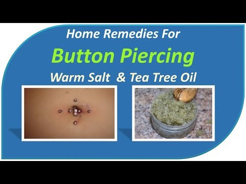 Home remedies for an infected belly button piercing - Warm Salt  & Tea Tree oil