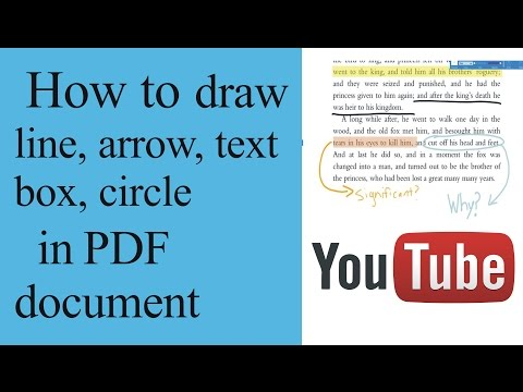 how to draw line, arrow, text box, circle, rectangle, underline  in pdf document