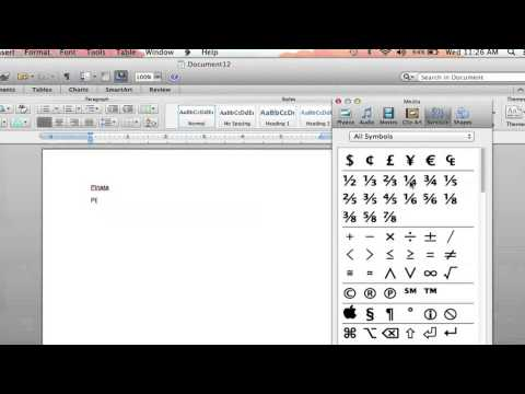How to Put a Character Over a Letter in Microsoft Word : Microsoft Word Help