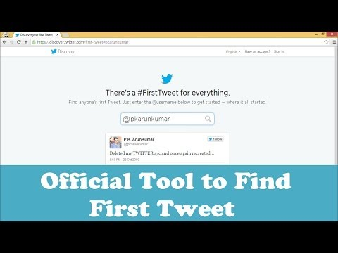 Twitter Official Tool to Find First Tweet on Twitter