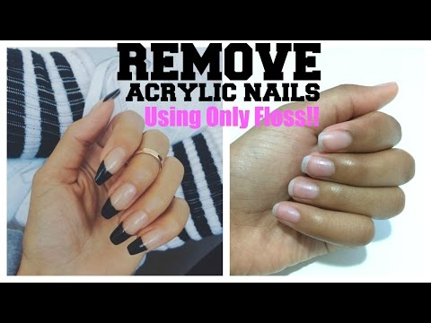 How To Easily Remove Acrylic Nails At Home Using Only Floss | SilasQiu