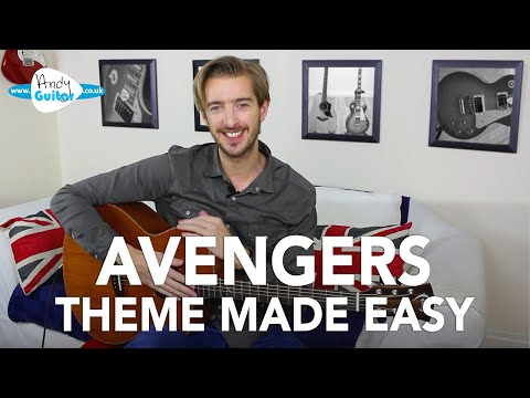 Avengers Theme Made EASY Guitar Tutorial/ Lesson - Infinity War