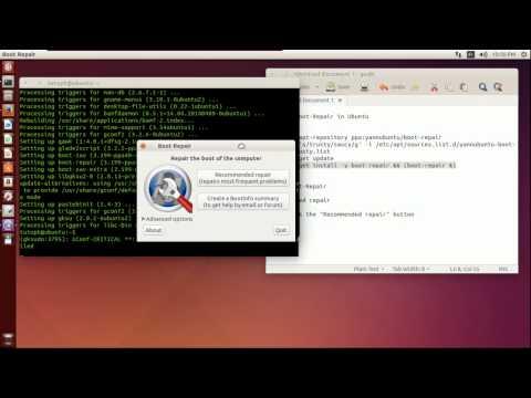 How to install and repair dual boot with boot repair (Ubuntu)