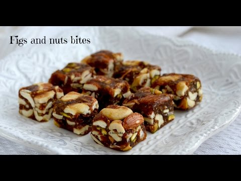Sugarfree anjeer and nuts burfi | Figs bites | sugar
