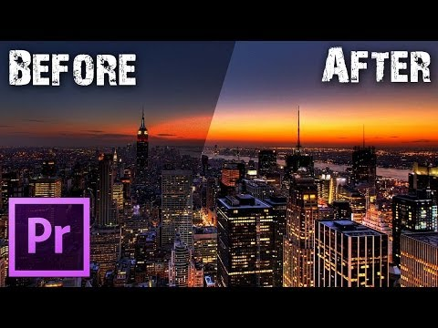 Premiere Pro TUTORIALS - How to Recover Details from Too Dark/ Washed Out Video Footage