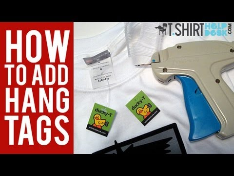 How to add Hang Tags to your T Shirts