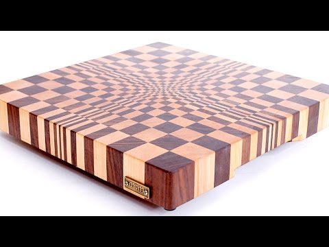 3D end grain cutting board #1 to make with the use of 13