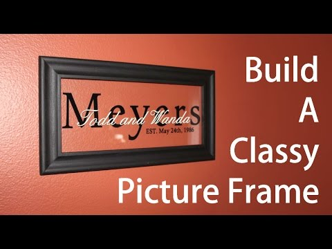 Learn how to make a classy picture frame!