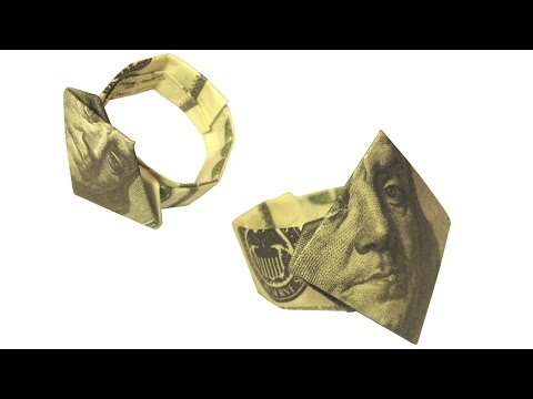 Dollar Finger Ring Money Origami