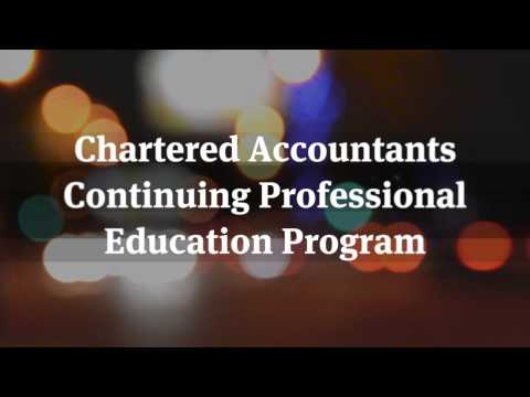 Chartered Accountants Continuing Professional Education Program
