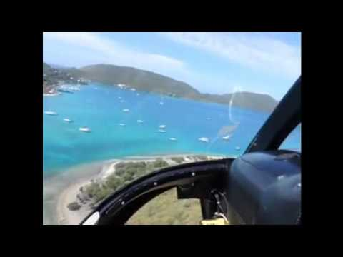 BVI Necker Helicopter Flight