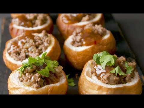 Curry Mince Vetkoek Pots