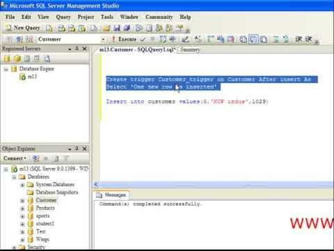 Trigger in SQL Server 2005 tutorial from wingslive.com