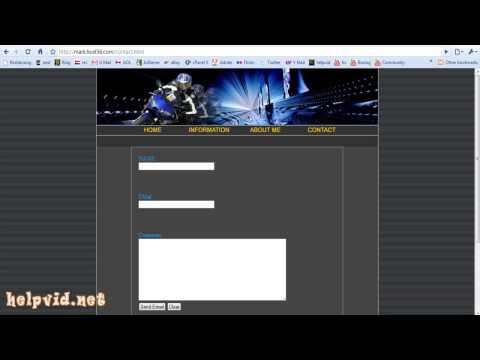 Create a Contact Form / Page for your website,  PHP Script Dreamweaver Tutorial