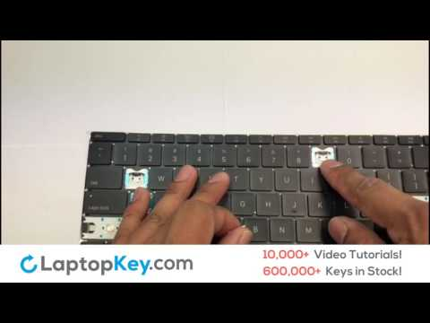 Laptop Keyboard Key Repair | Fix Install Stuck Sticky Keys | Apple Macbook 12 inch