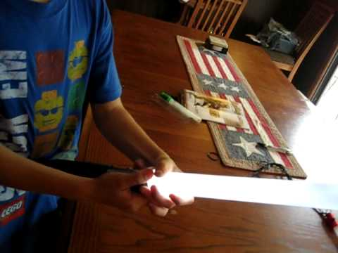 Part 2  How To make a Light Saber out of parts from Home Depot