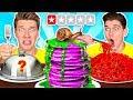 Worst Reviewed Food Mystery Wheel Challenge How To Eat Weird Foods Like A Taro Pancake