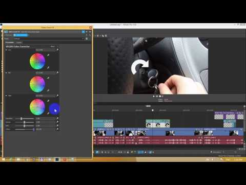 How to turn a black object into white (Vegas Pro, Offset)