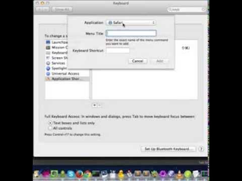 Change Tab Switching Shortcuts in Safari