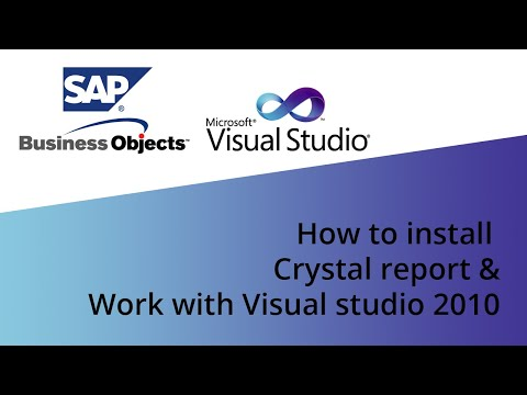 How to install crystal report & Work with Visual studio 2010
