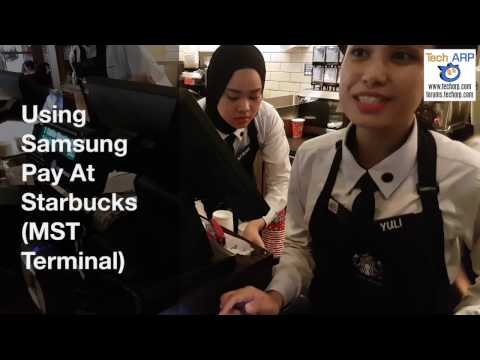 Using Samsung Pay At Starbucks (MST Terminal)