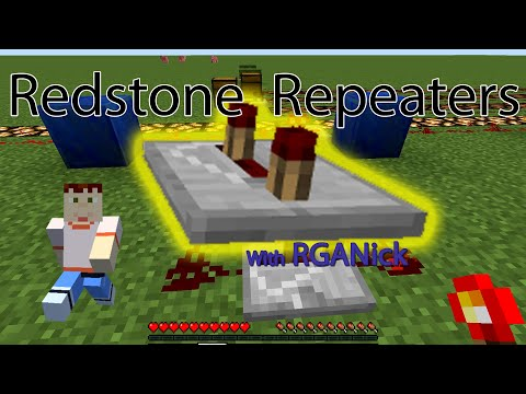 Minecraft | HOW TO USE REDSTONE REPEATERS