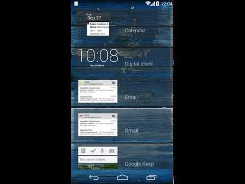 MOTO X - How to enable Lock Screen Widgets
